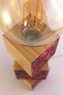 #Lámpara de #madera hecha a mano. ¡Clica aquí para ver más!