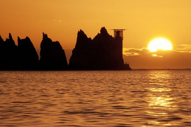 Needles Sunset 140213 by Visit Isle of Wight, via Flickr