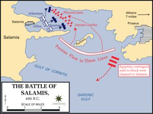 Battle of Salamis - Persia, led by Xerxes, tries to conquer the Greek city state allies. King Xerxes was the king who Esther married.
