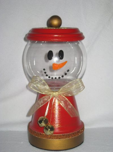 Candy Jars Picmia Clay Pot Crafts Christmas Crafts