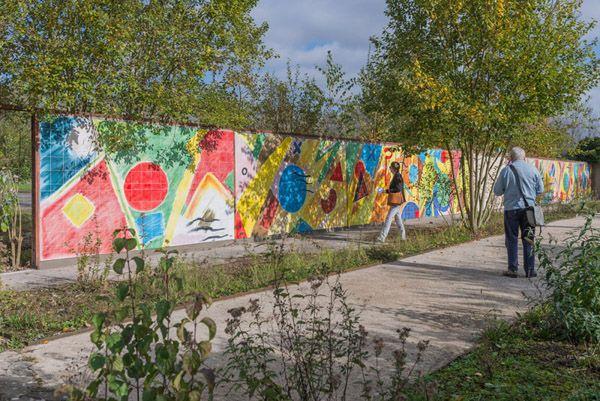 Etel Adnan, permanent installation, Galleria Continua Les Moulins 2013.
