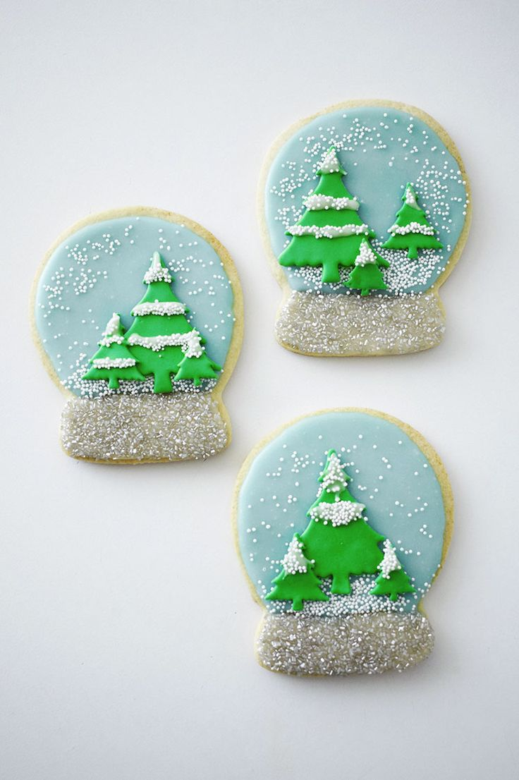 Time to shake things up with these adorable Snow Globe Christmas Cookies…