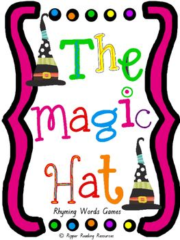 """Rhyming words game cards are included with four rhyming words game instructions for """"The Magic Hat"""" by Mem Fox. This is a hands-on activity which is terrific for literacy rotations or fast finishers.Please note that you will need a copy of the picture book to make the best use of this resource.There are three different 'twists' in one of the rhyming words games using the """"magic hat"""" or """"magic elf"""" cards for players to either lose their cards, miss a go or have another turn (it is up to the…"""