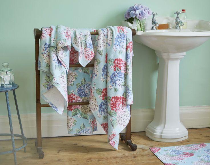 Hydrangea Towels | Cath Kidston Spring Summer 2016 |