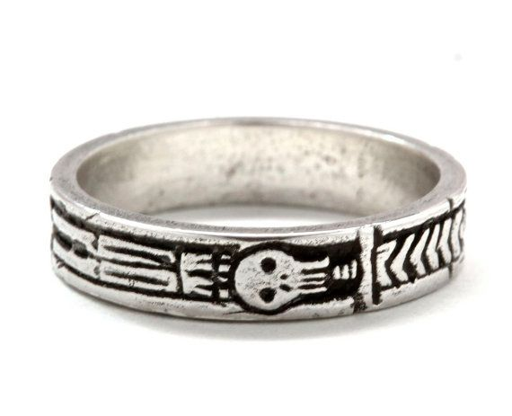 Georgian Skeleton Ring .925 Silver with by BlueBayerDesignNYC Size 6.5 :D