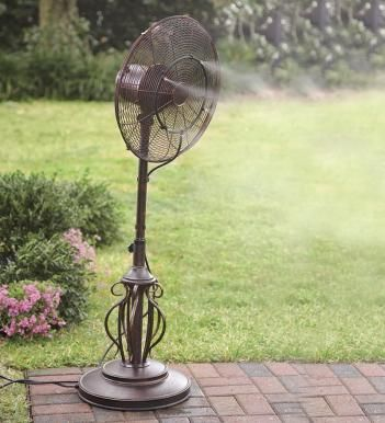 Outdoor Misting Fan Kit | $24.99 This Would Be Nice For Those Hot Days This  Summer