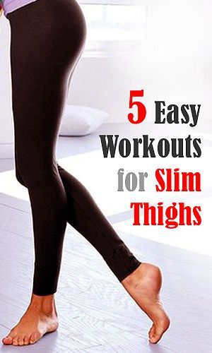 5 Easy workouts for Sexy and Slim Thighs. No equipment or weights needed! Please pin and