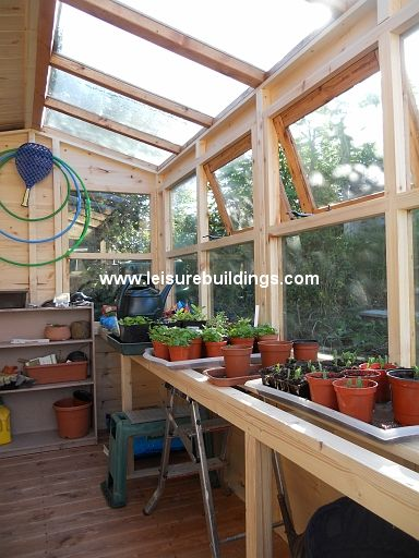 Potting Shed Interiors Interior Of 10ft X 6ft Apex