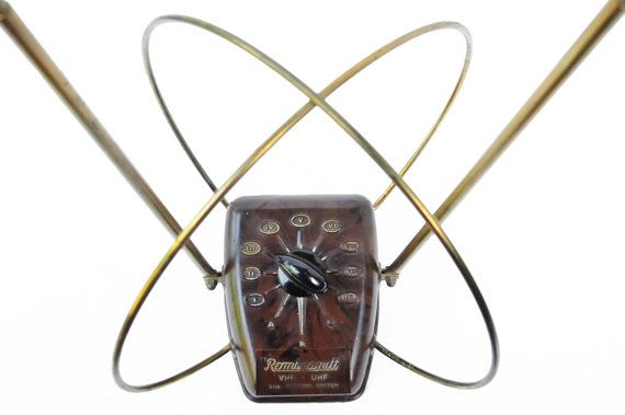 Vintage television antenna rabbit ears rembrandt by TheAtomicAttic