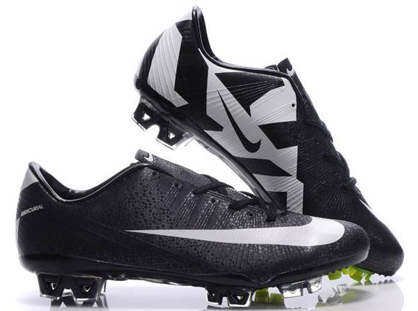 Nike Mercurial Vapor Superfly III Safari Soccer Cleats Black White
