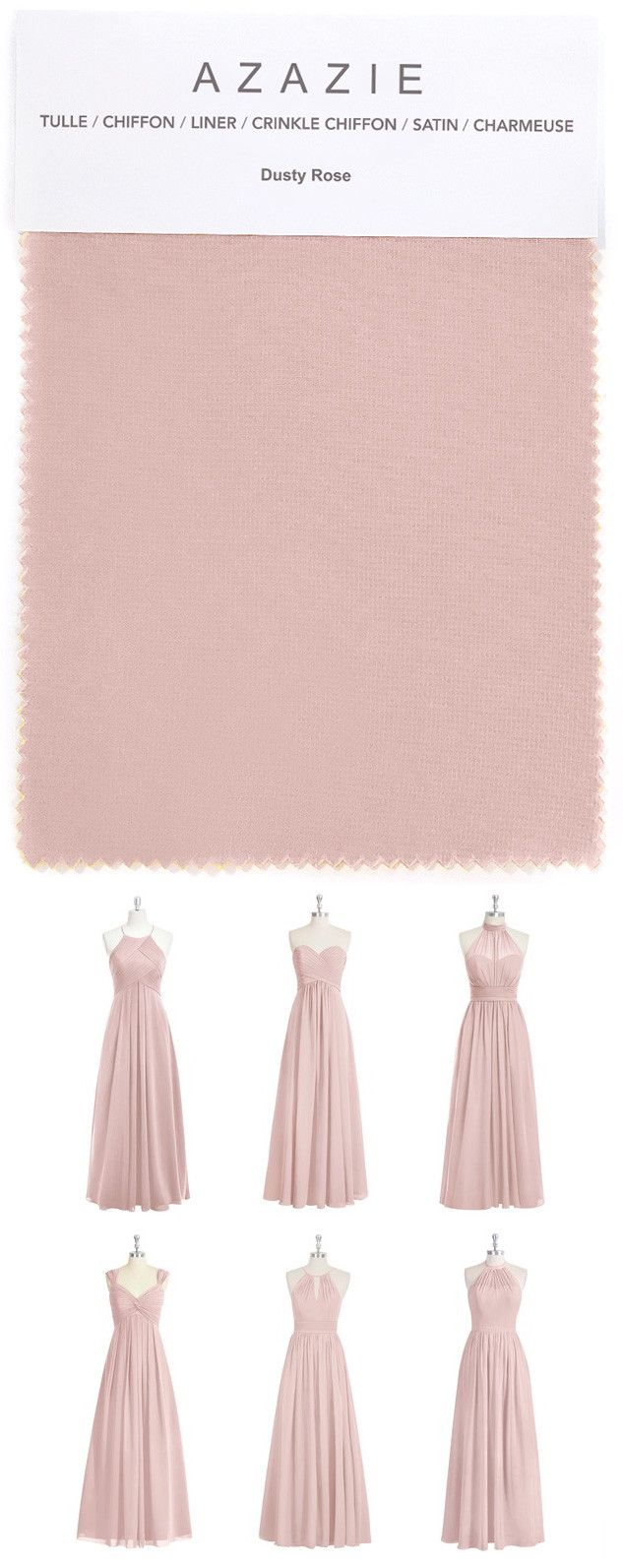 Best 25 rose bridesmaid dresses ideas on pinterest dusty rose azazie dusty rose swatch in 6 fabrics pink dusty rose chiffon ombrellifo Images