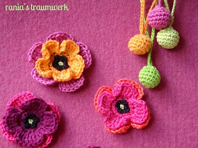 Blumendeko für Filztasche