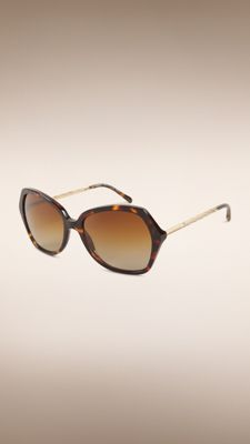 Gabardine Collection Oversize Square Frame Sunglasses Tortoiseshell | Burberry