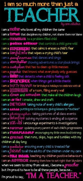 I am a TEACHER!  (and proud of it!)