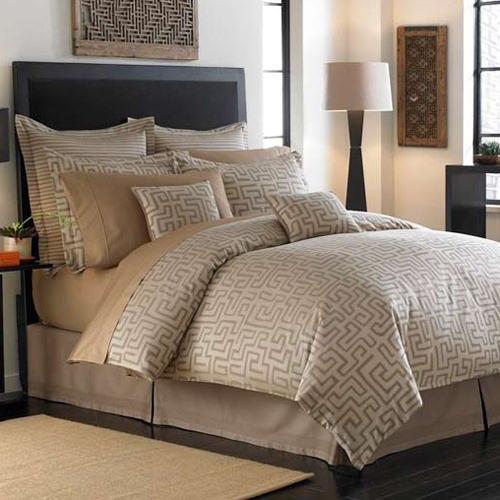 kuba cloth inspired bedding - African American Home Decor