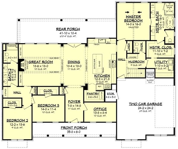 Farmhouse Style House Plan 3 Beds 2 5 Baths 2553 Sq Ft Plan 430 204 Modern Farmhouse Plans Ranch House Plans Farmhouse Style House Plans