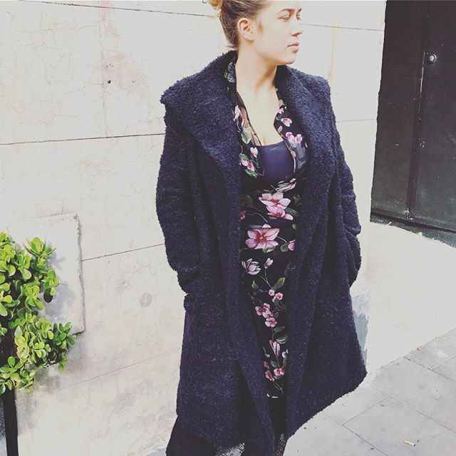 Luxe and lush... cashmere/wool Louisa coat in charcoal Boucle... in store and online @jiva_clothing #cashmerewool #coat #winter
