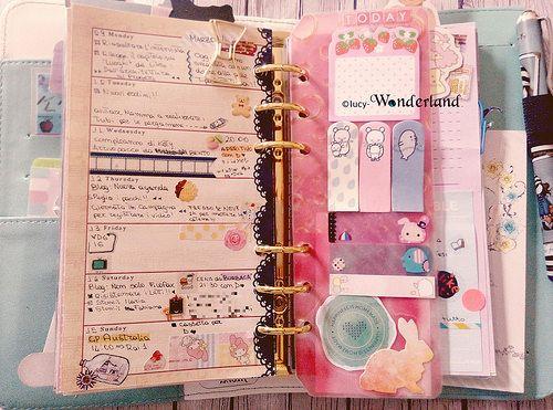 Lucy-Wonderland: Personalizziamo l'agenda _ il page marker