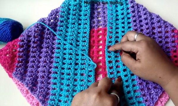 Como Aprender A Tejer Crochet Para Principiantes Video Tutorial Para Hacer Un Hermoso Chal Para Principiantes