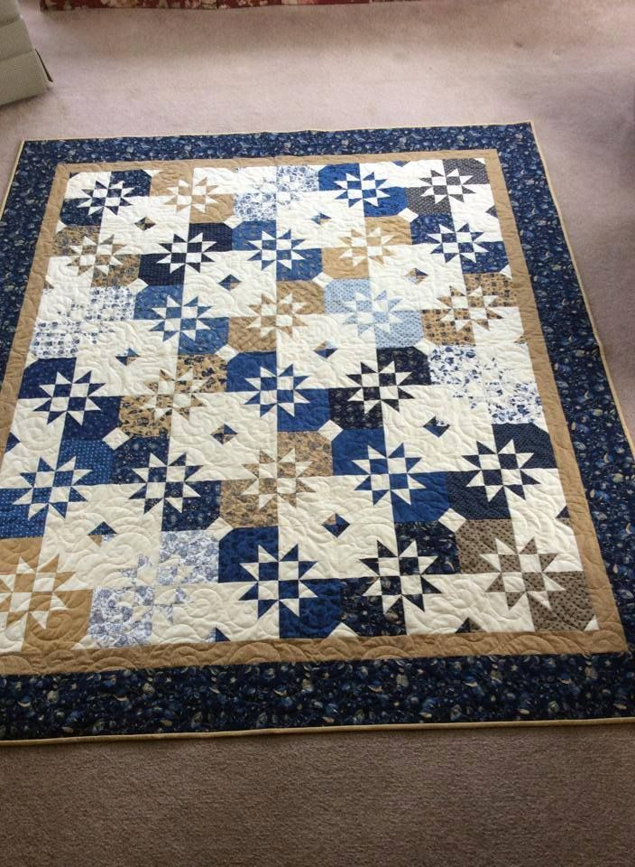 Disappearing hourglass quilt