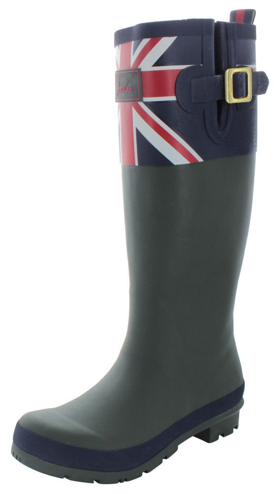 Joules Britannia Women's Rubber Rain Boots British Flag