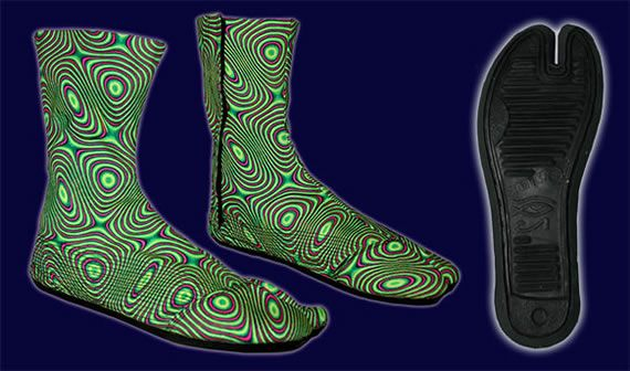 Ninja Boot  : Liquid Acid http://www.spacetribe.com/shop/accessories-footwear-c-158_287.html