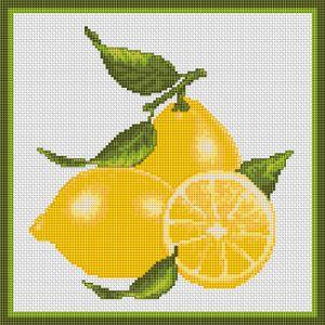 Lemons free cross stitch pattern