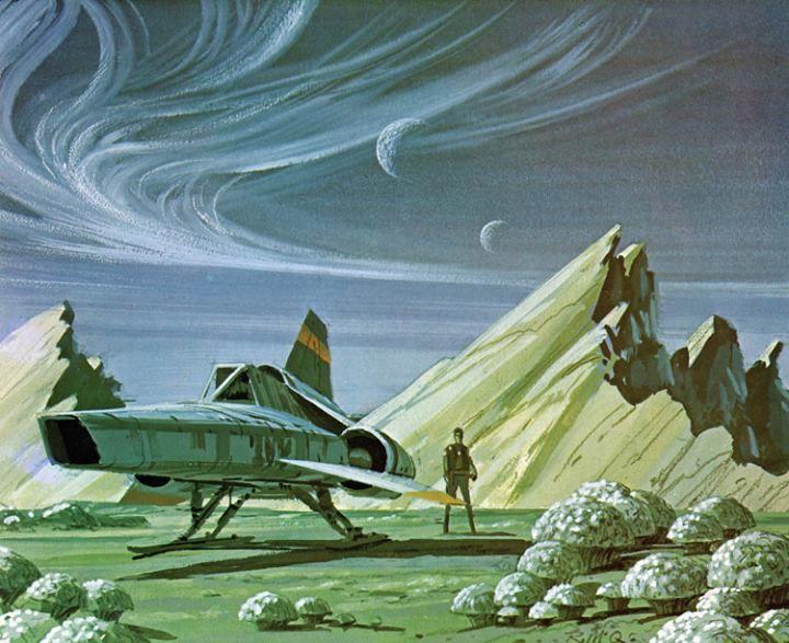 A Battlestar Galactica Viper - Ralph McQuarrie