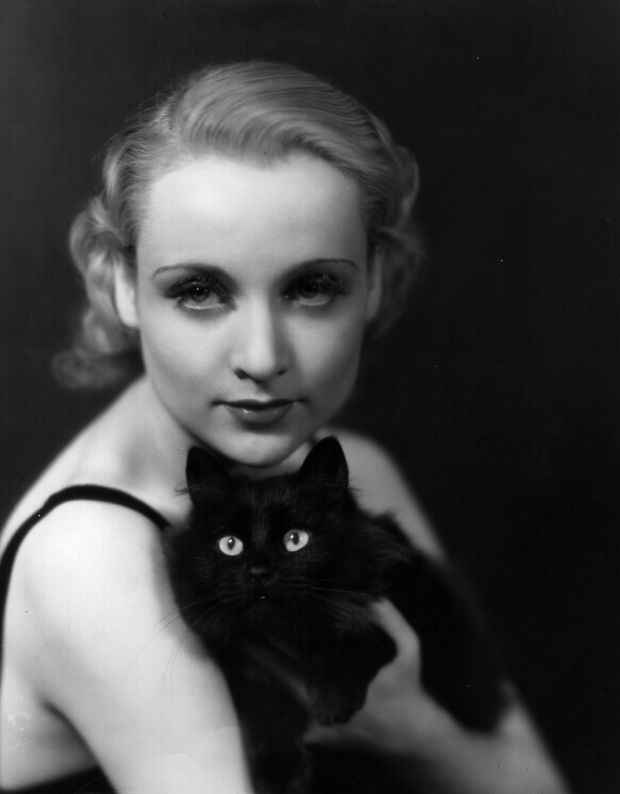 """CAROLE LOMBARD ~ Born: Oct 6, 1908, Indiana, USA. Died: Jan 16, 1942 (aged 33). As she was flying back from a War Bond Tour of Indiana, her plane crashed outside of Las Vegas killing her, her mother, & 20 other people. Her first sound film was """"High Voltage"""" (1929). Starred in """"My Man Godfrey"""" (1936) opposite William Powell whom she married in 1931, (Divorced 1933). Married Clark Gable in 1939 until her death. Her film """"To Be or Not to Be"""" (1942) was in post-production when she died."""