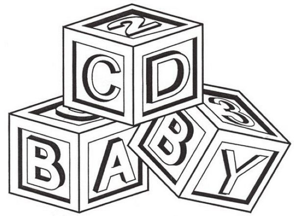 Block Coloring Pages Printable Coloring Pages Baby Drawing