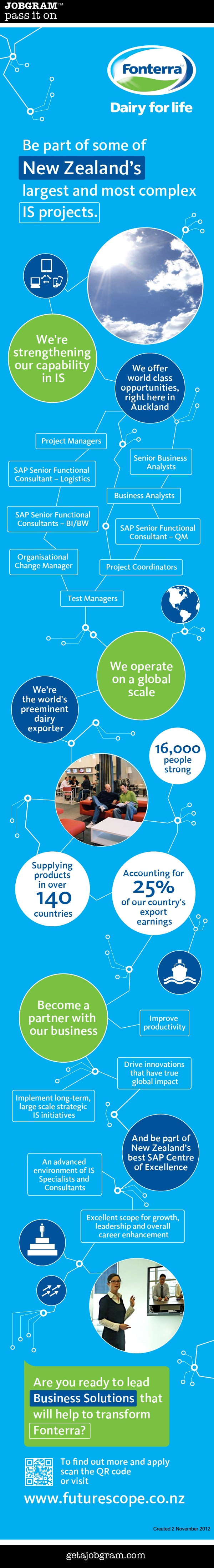Jobgram: New Zealand's largest company Fonterra is hiring IS professionals http://getajobgram.com/post/34795201938/fonterra-is