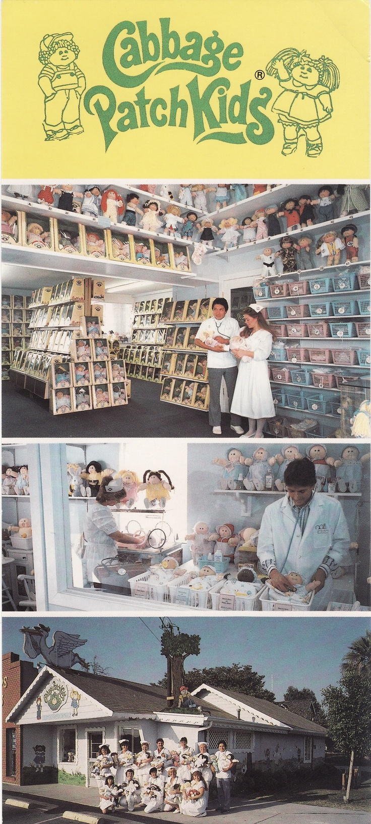 Cabbage Patch Kids adoption center. I would have sold myself into slavery in order to score a visit to this place.