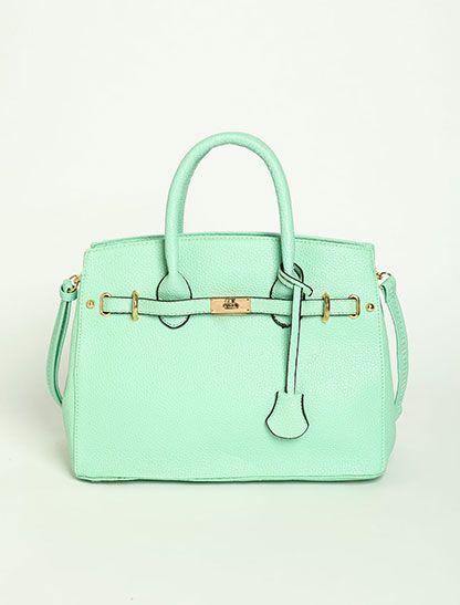 Leatherette Hand Bag $36.95 #mint