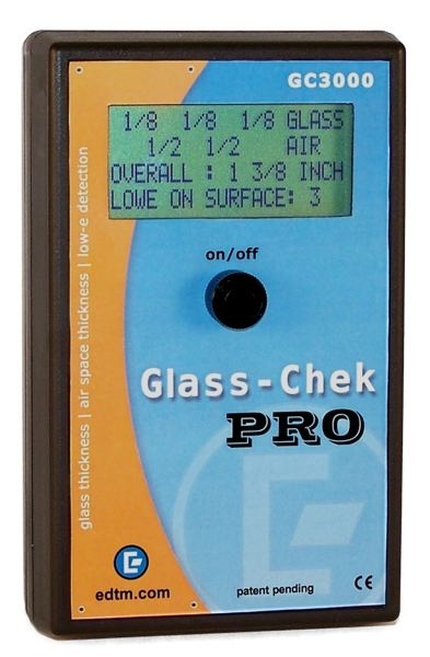The Ultimate Glass Identification Tool $999.00 Window tinting, glaziers, energy professionals can now determine glass thickness, spacer thickness, Low-E Coating type and location in one push of a button. No other product in the world can handle this combination of applications!