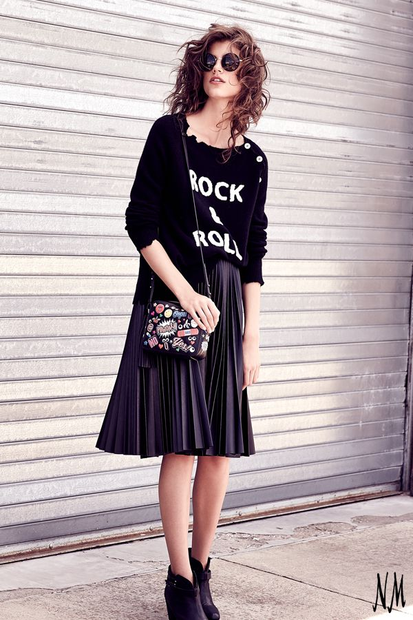 Rock and roll is always in style. Dance through the weekend in cashmere pieces by Zadig & Voltaire.