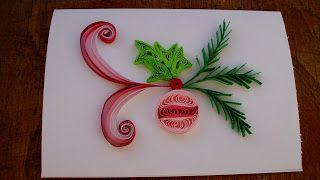 cadouri handmade - quilling art: christmas card