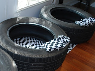 Car bean bag game for Hot Wheels party