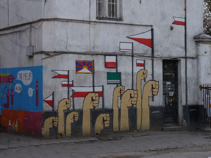 Mural ul. 11 Listopada, Warszawa, 2010, fot. A. Robotycki #mural, #streetart #warszawa