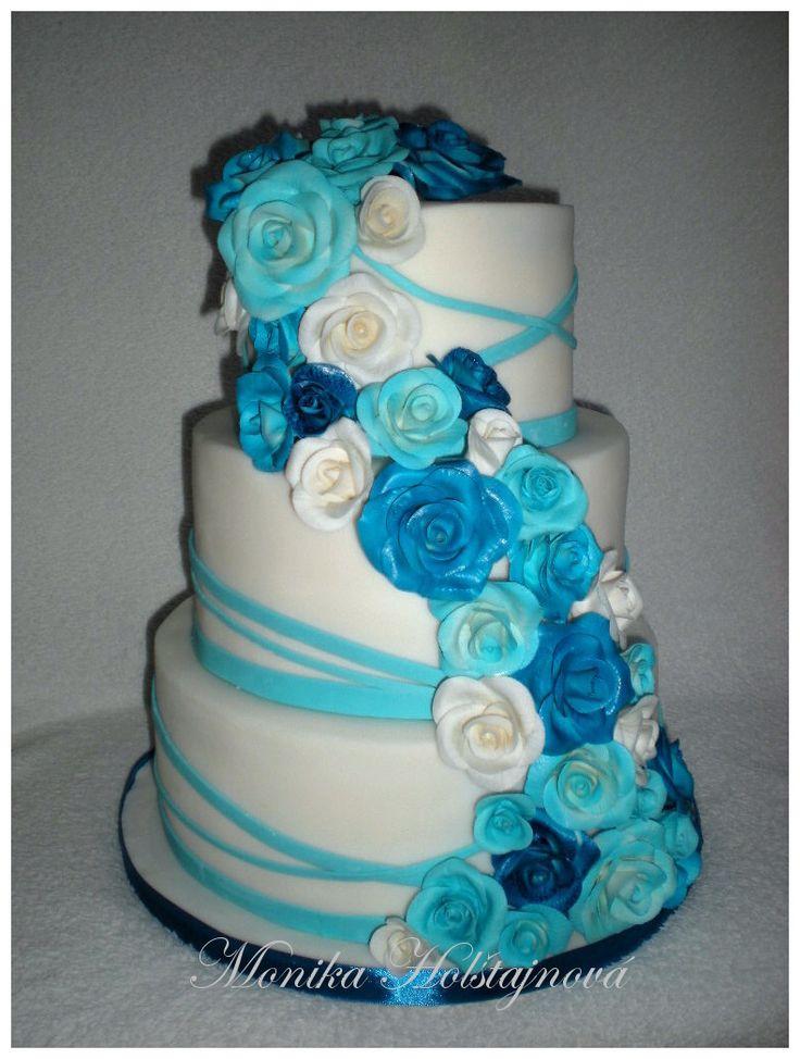 svatební do modra