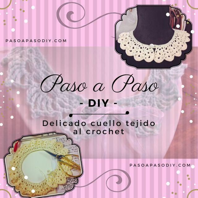 Cuello al Crochet - DIY   Paso a Paso