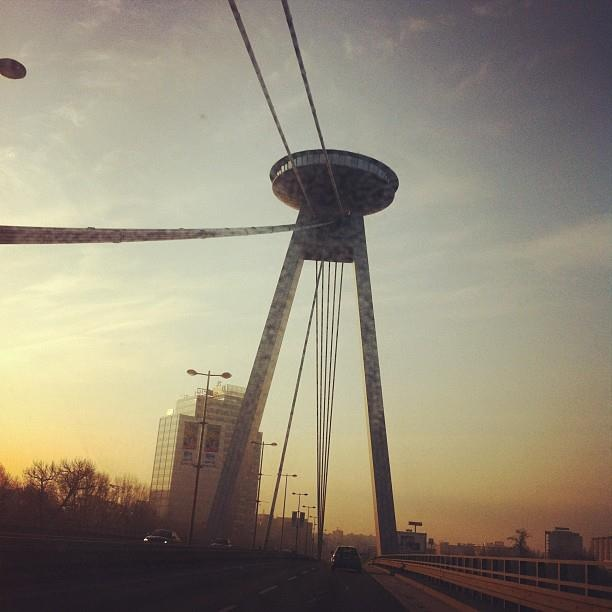 Bridge of Slovak National Uprising, Bratislava; by Peter Sedlacik