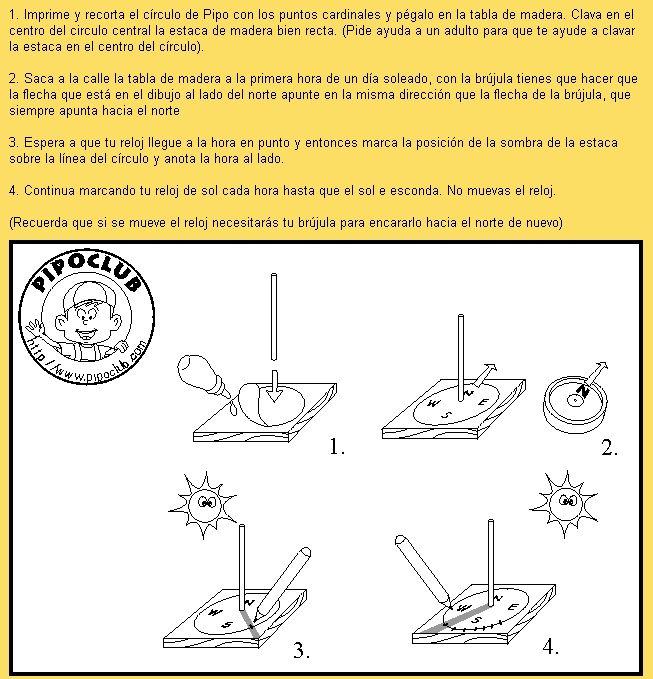 Reloj de Sol instrucciones