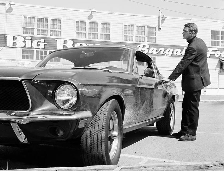 Mustang...McQueen....Bullett. ... One of my favorite actors in one of my favorite movies! The chase scene in MY opinion is STILL one of the best if not THE best, especially considering that Steve drove!