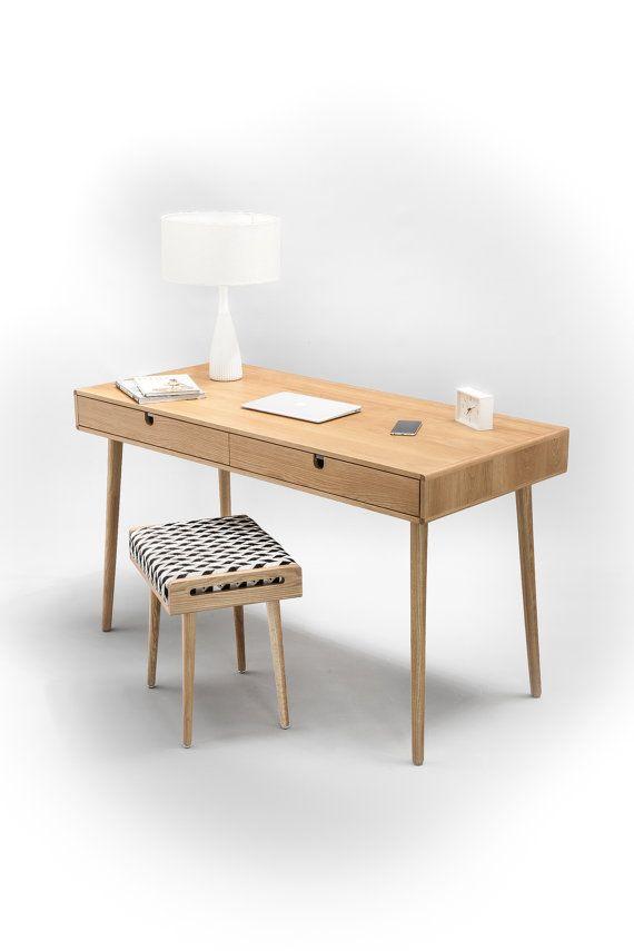 Solid oak desk , Bureau , dressing table , office desk, Classic, Mid Century, Modern.