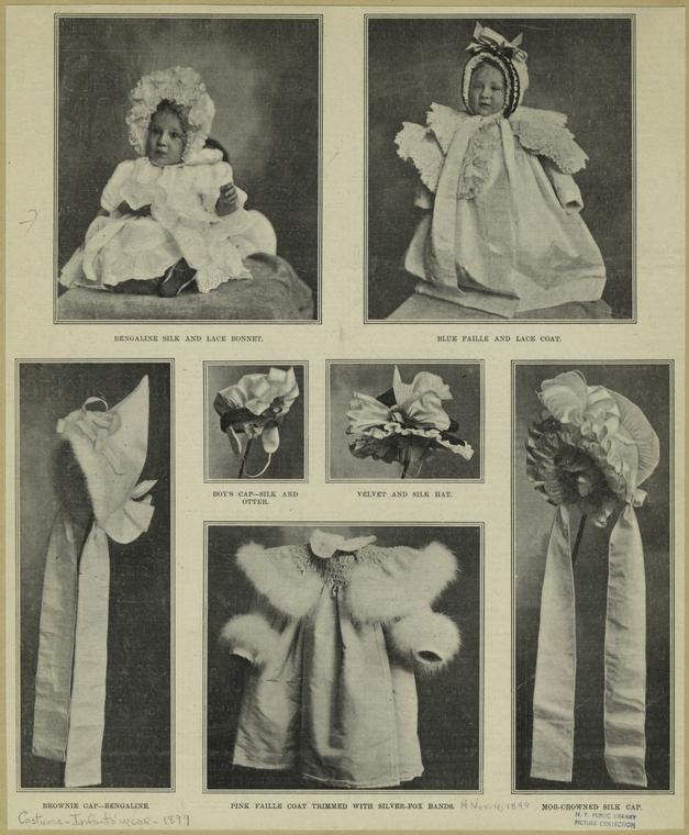 1889 silk, lace and fur for baby
