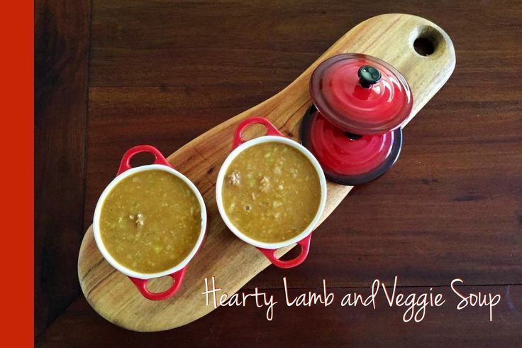 Hearty Lamb & Veggie Thermomix Soup - The 4 Blades