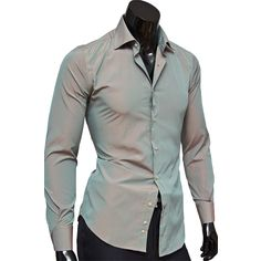 Рубашка Venturo приталенная цвет серый в полоску