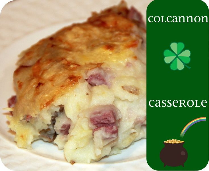 COLCANNON CASSEROLE {yes, that IS Irish by name!}: 2-3 lb russet potatoes, 1 corned beef cooked & cubed, 1 head cabbage shredded & cooked, 2 C shredded Dubliner or Swiss cheese, S & P, 1 stick butter, 1/2 C {more or less} milk • See Page for Directions!!