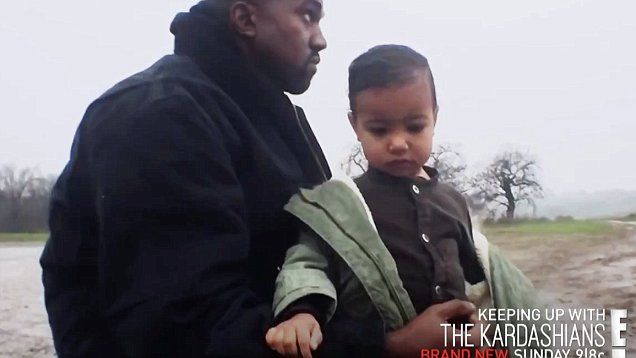 Kim Kardashian gushes over her daughter in Kanye West's music video as North makes KUWTK debut | Daily Mail Online