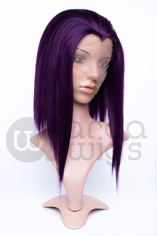 """A medium-length lace front with a widow's peak! The Virginia comes with a hand-tied lace front that extends back 1-2"""" (2.5-5 cm) from the hairline with its own widow's peak built in. The longest layers measure around 15 inches at the front, and gradually get shorter towards the back. The shortest layer measures roughly 5 inches from the nape.  While our lace front wigs all come with extra lace in the front so that you can add additional hair if you choose, we advise you to please..."""